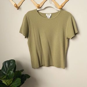 Vintage Talbots   Ribbed T shirt